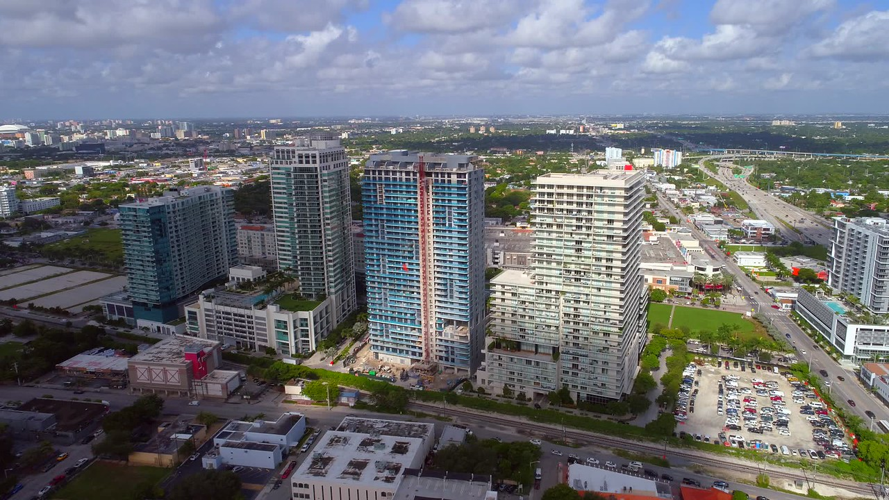 Miami aerial Midtown towers