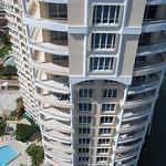 Aerial descent building balcony