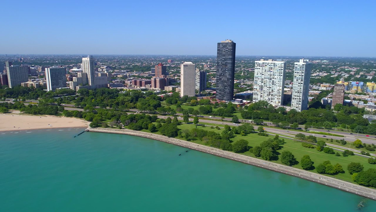 Helicopter tour Chicago suburbs 4k