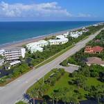 Aerial footage beachfront condos Hutchinson Island Florida 4k