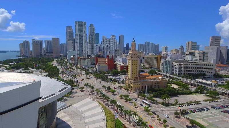 Aerial Downtown Miami 4k