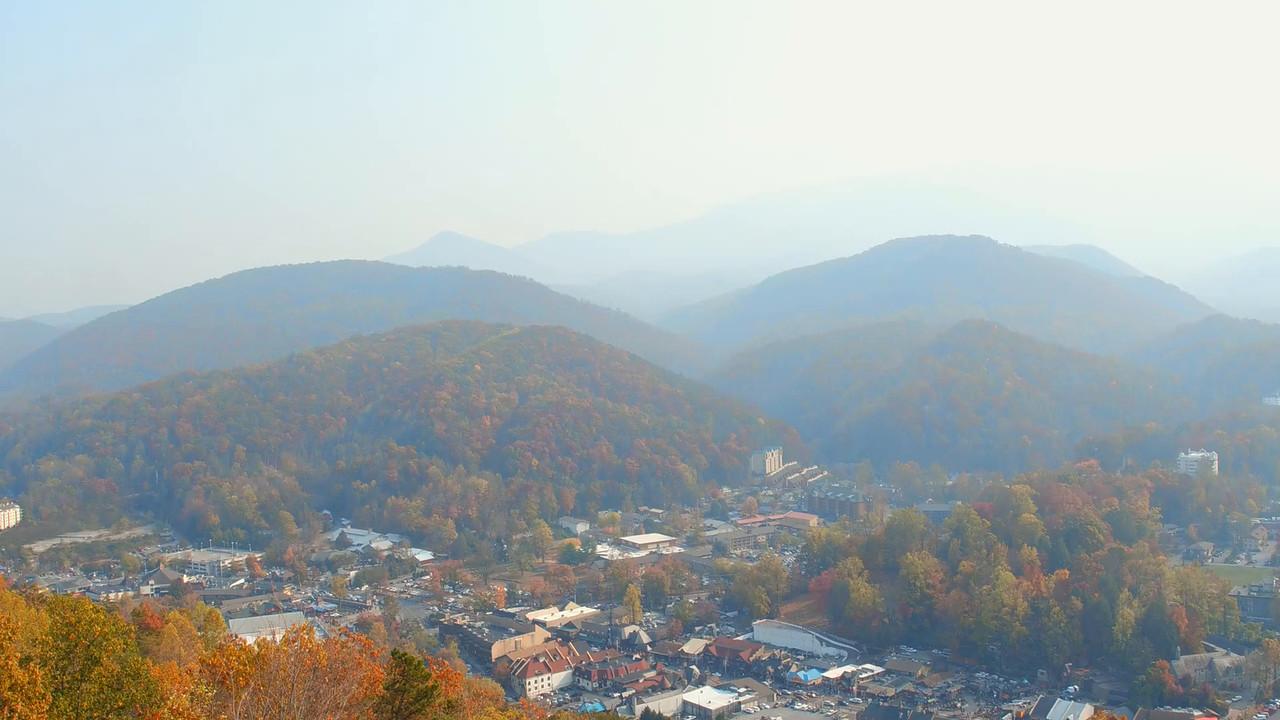 Birds eye view Gatlinburg Tennessee