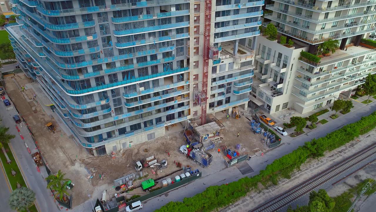 Miami Midtown 5 construction site aerial