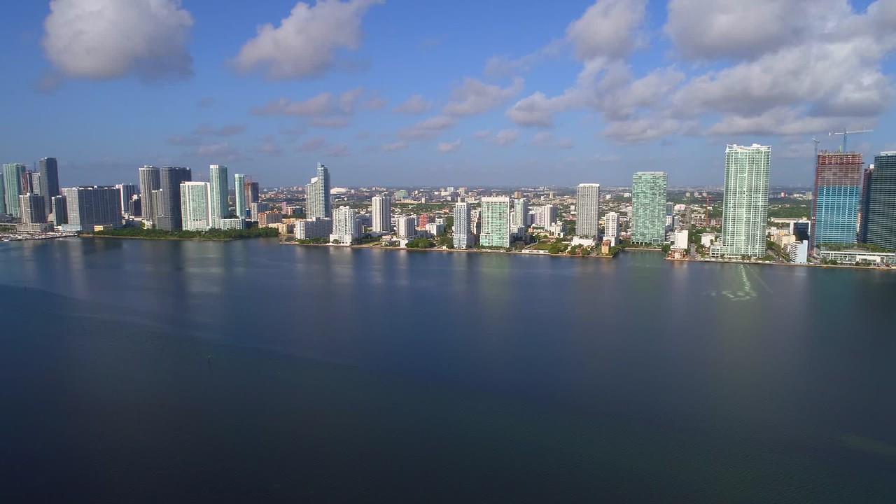 Cinematic hyperlapse aerial video Edgewater Miami 4k