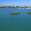 Aerial video Biscayne Bay islands