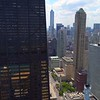 Aerial video North Michigan Avenue Downtown Chicago