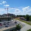 Aerial video of Manchester Richmond Virginia USA