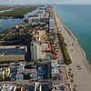 Aerial video Hollywood Beach boardwalk