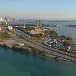 Drone footage of Watson Island Miami FL, USA 4k