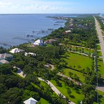 Aerial drone video luxury homes on Hutchinson Island with private docks