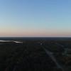 Aerial video Santee National Wildlife Refuge South Carolina and I95