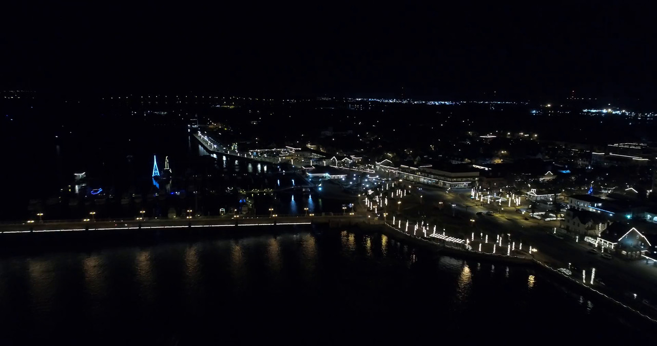 St Augustine night aerial video