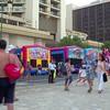 Bounce houses at the Honolulu Street festival