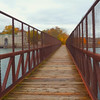 Pedestrian foot bridge over the Niagara River