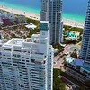 Aerial orbit drone video Continuum Tower Miami Beach 4k 60p