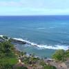 Aerial video Paradise Cove beach resort Oahu Hawaii 4k 60p