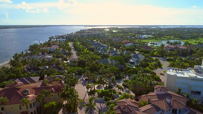 Luxury real estate Hutchinson Island Stuart FL 4k flyover
