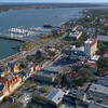Aerial video Bridge of Lions St Augustine FL