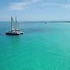 Aerial video Caribbean Spirit catamaran Miami Beach