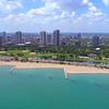 Aerial video Chicago North Avenue Beach 4k 60p