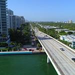 Aerial video Miami Beach Bal Harbour
