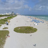 Aerial shot Miami Beach and Atlantic Ocean 4k 60p