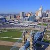 Aerial video of Cincinnati Ohio 4k