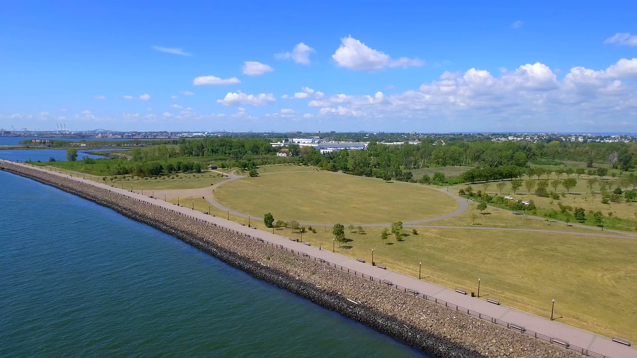 Aerial video Liberty State Park New Jersey