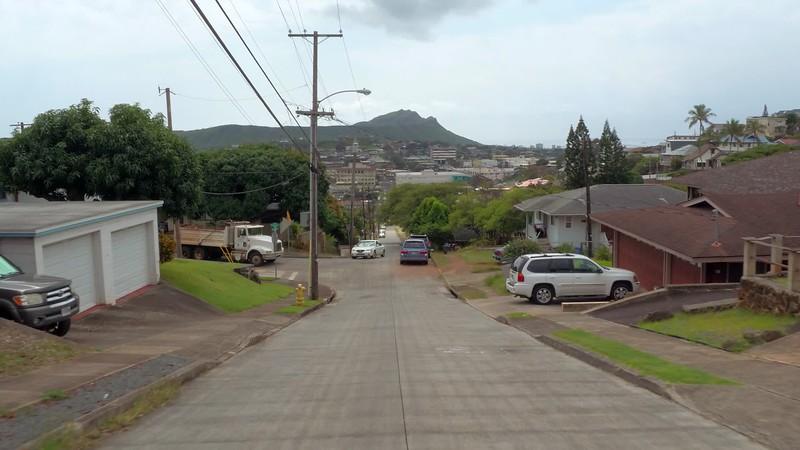 MIddle class residential neighborhood in Oahu Hawaii Honolulu