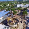 Aerial dorne video over a construction site 4k