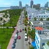 Aerial Ocean Drive and Lummus Park Miami Beach