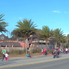 Runners starting the St Augustine Christmas Parade