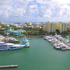 Aerial South Beach scene Miami 4k