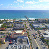 Aerial video Lauderdale by the sea fishing pier