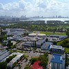 Aerial video Miami Beach Senior High School and Hebrew Academy 4k 60p
