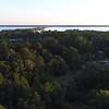Aerial video Santee National Wildlife Refuge South Carolina USA 4k