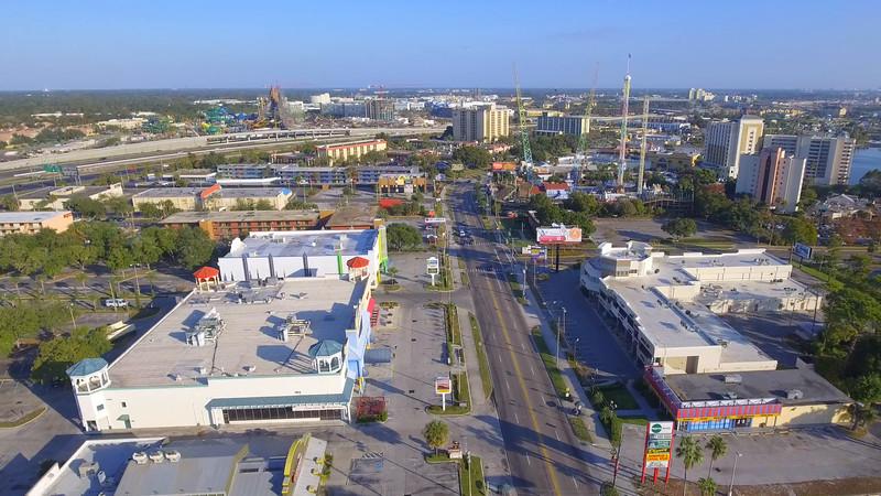 Aerial drone video International Drive Orlando FL
