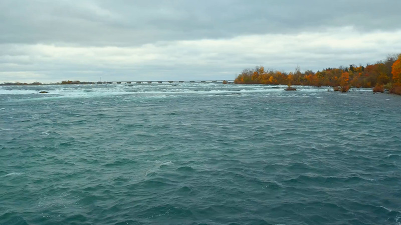 Rough waters at Niagara River