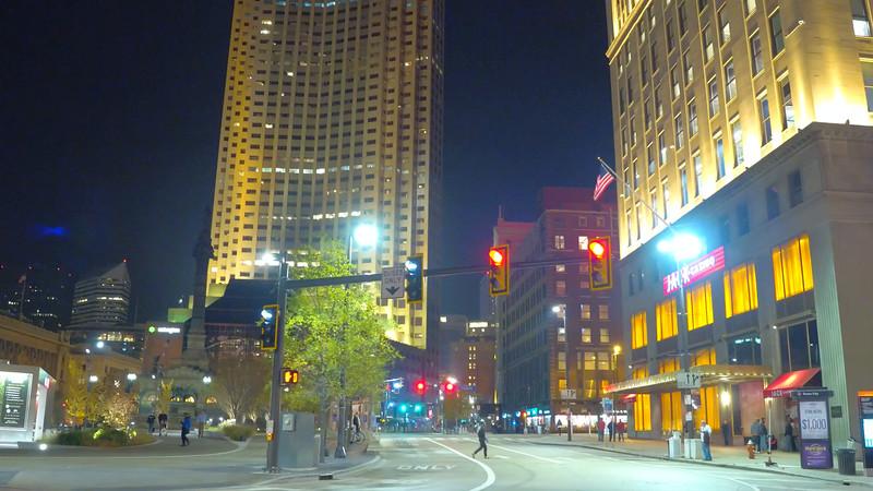Walking Cleveland Ohio at night