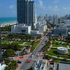 Aerial drone video Miami Beach Collins Park 4k 60p