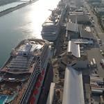 Aerial tour of Port Miami 4k