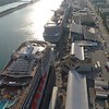 Aerial tour of Port Miami 4k