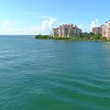Aerial video Fisher Island Miami Beach 4k 60p