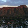 4k Aerial video Diamond Head Honolulu Hawaii