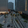 Aerial Miami Southeast Financial Center and Intercontinental Hotel 4k 24p