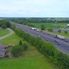 Aerial video truck highway I65