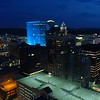 Night at Downtown Des Moines Iowa