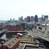 Leonard P. Zakim Bunker Hill Bridge and Boston Downtown 4k 60p