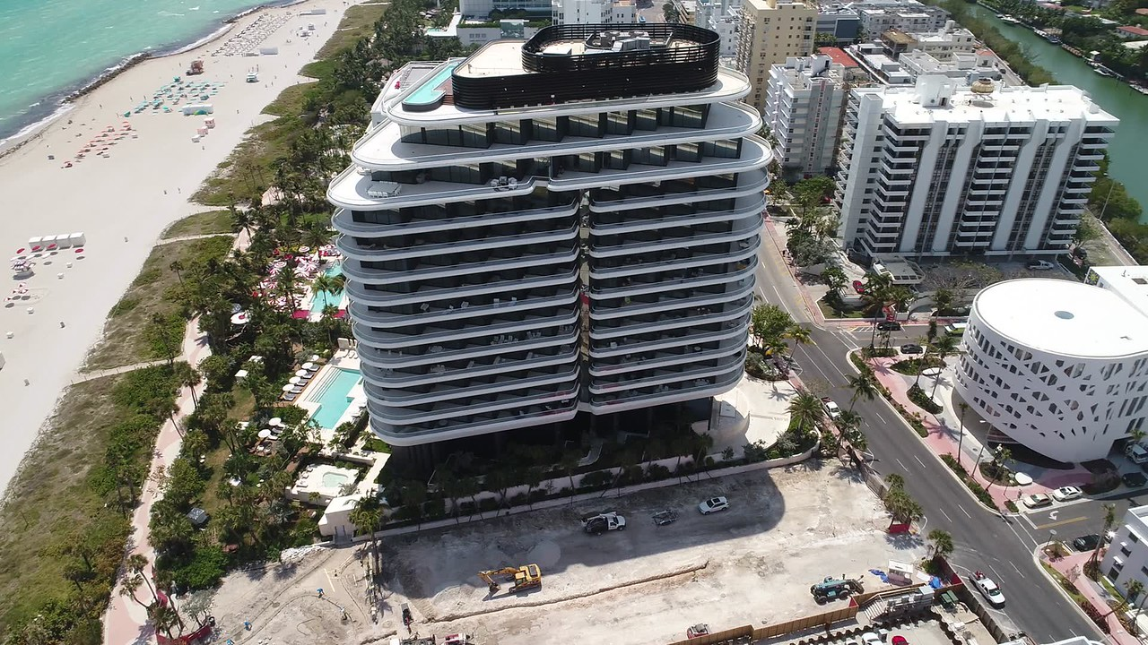 Faena House aerial drone video
