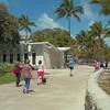 Stock video Miami Beach Ocean Drive shot with a steadicam